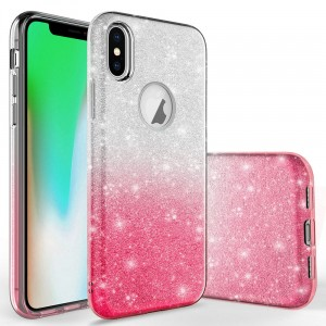 "SILIKONOWE ETUI GLITTER CASE BROKAT iPhone X / XS (5,8"")"