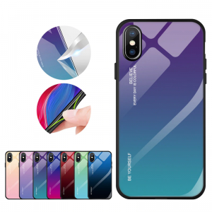 "Gradient Glass Case - Apple iPhone X / XS (5,8"")"