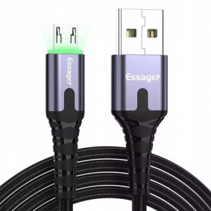 Kabel MICRO-USB Ledowy QC 3.0 3A Essager®