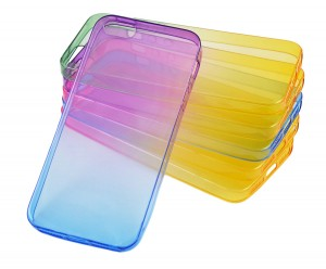 Silikon etui crystal case kolorowe gradienty Apple Iphone 5 5s SE