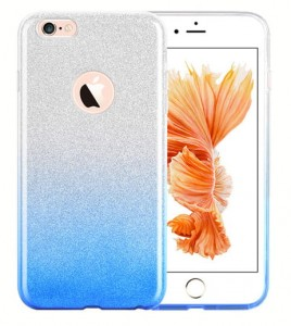 SILIKONOWE ETUI OMBRE GRADIENT BROKAT iPhone 6+/6s+ PLUS