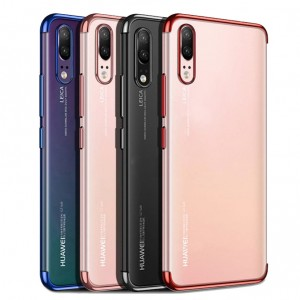 SILICONE METALIC LUXURY PLATED CASE HUAWEI P20