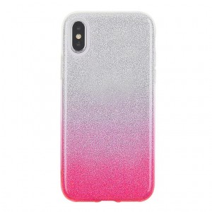 "SILIKONOWE ETUI OMBRE GRADIENT BROKAT iPhone X (5,8"")"