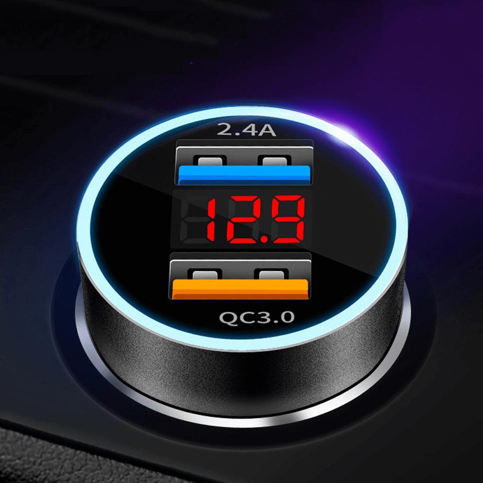 Ładowarka Samochodowa Quick Charge - Szybkie Ładowanie 2xUSB, QC ...